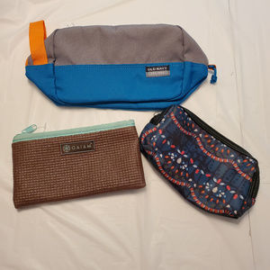 3 TRAVEL BAGS POUCHES Cynthis Rowley Gaiam ON